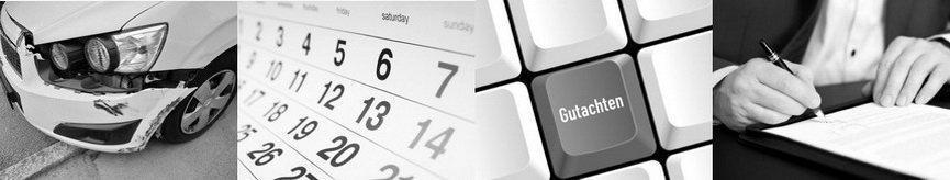 365 Tage flexible Termine für Kfz Gutachten